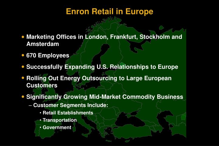 Marketing Offices in London, Frankfurt, Stockholm and Amsterdam