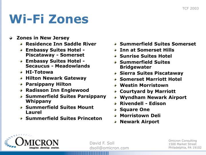 Zones in New Jersey