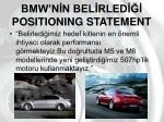 bmw n n bel rled positioning statement