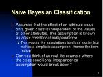 na ve bayesian classification