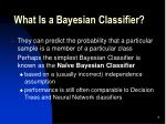what is a bayesian classifier1