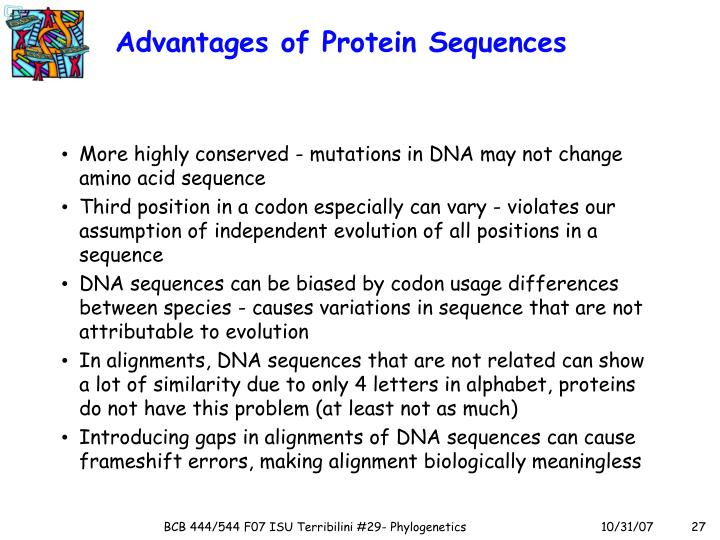 Advantages of Protein Sequences