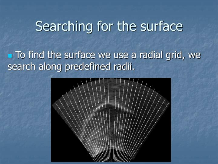Searching for the surface
