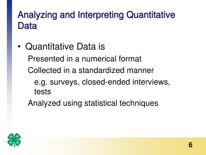 Analyzing and Interpreting Quantitative Data