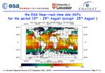 the esa near real time skin ssts for the period 19 th 29 th august except 25 th august