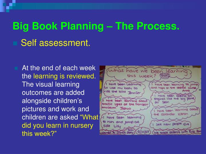 Big Book Planning – The Process.