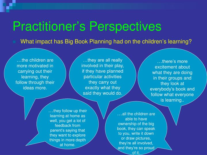 Practitioner's Perspectives
