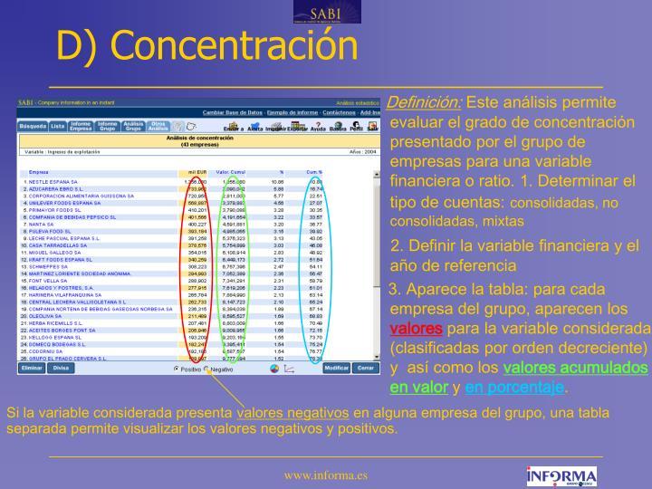 D) Concentración