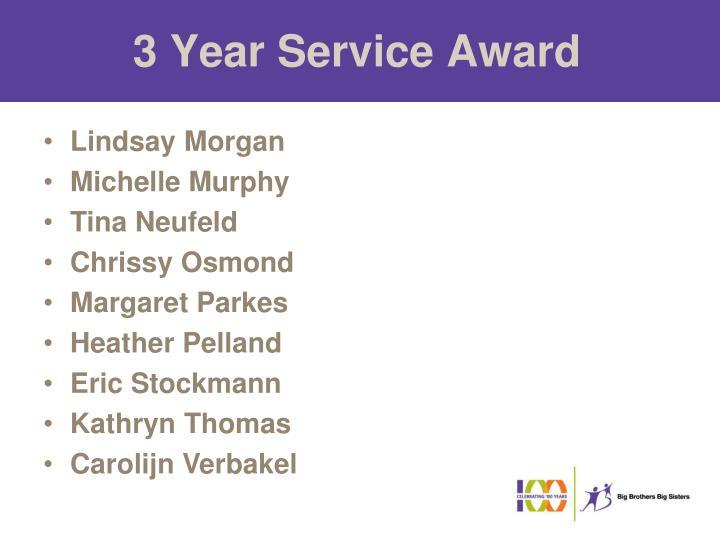 3 Year Service Award