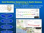 grid workflow datamining in earth science