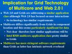 implication for grid technology of multicore and web 2 0 i