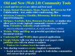 old and new web 2 0 community tools
