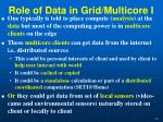 role of data in grid multicore i