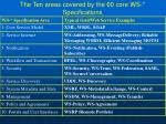 the ten areas covered by the 60 core ws specifications