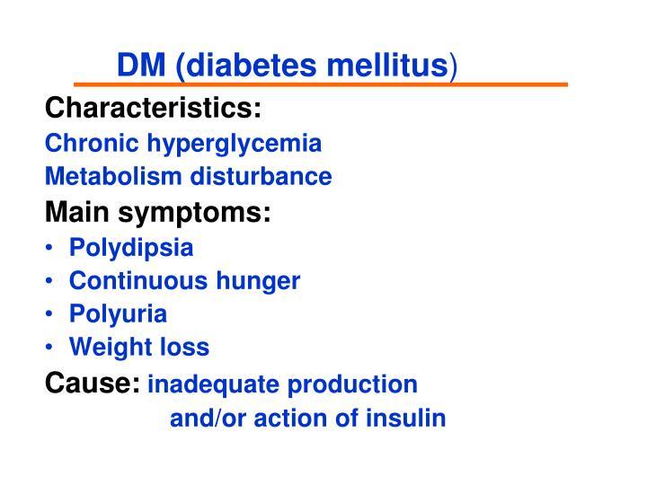 DM (diabetes mellitus