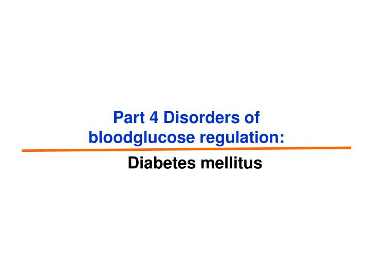 Part 4 Disorders of