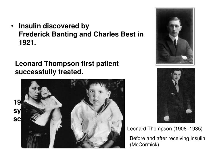 Insulin discovered by
