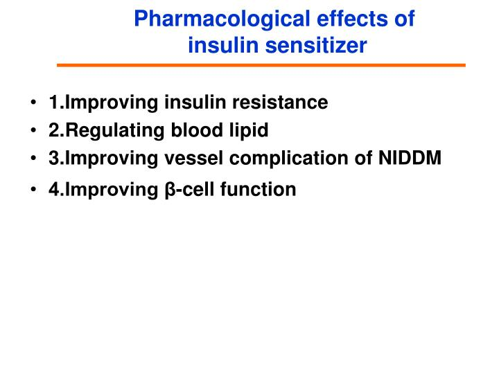 Pharmacological effects of