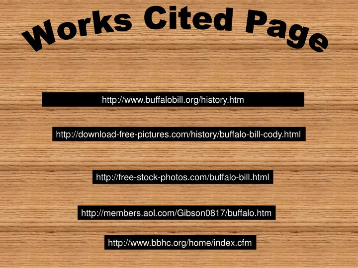 Works Cited Page