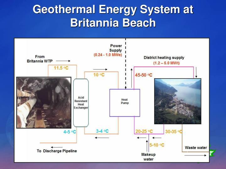 Geothermal Energy System at Britannia Beach