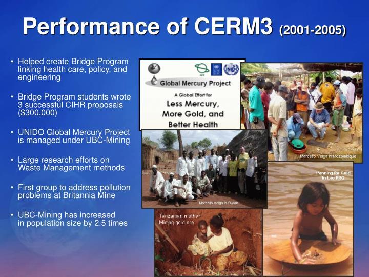 Performance of CERM3