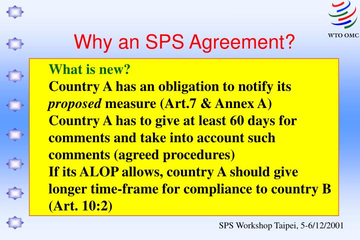 Why an sps agreement1