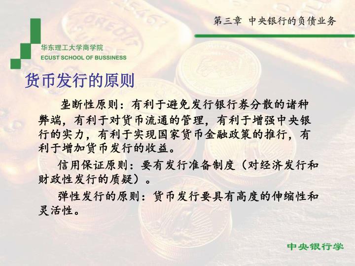 货币发行的原则