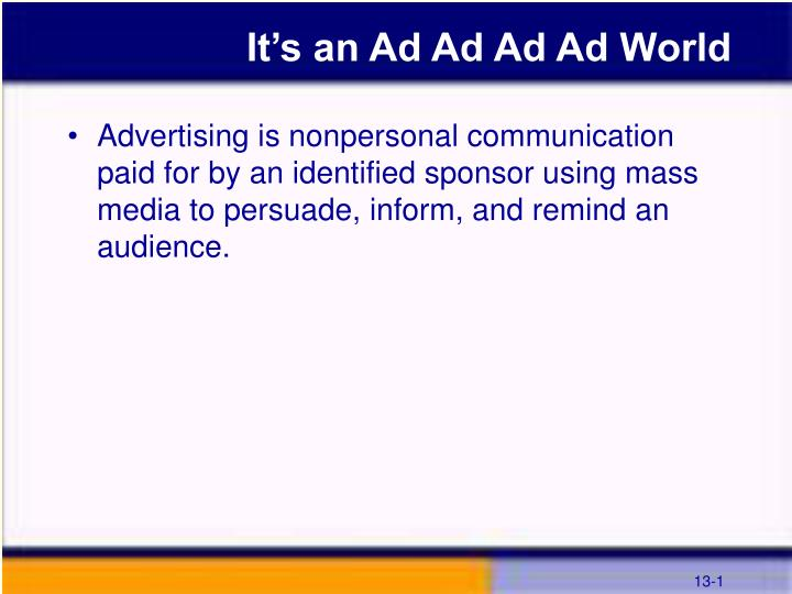 it s an ad ad ad ad world n.