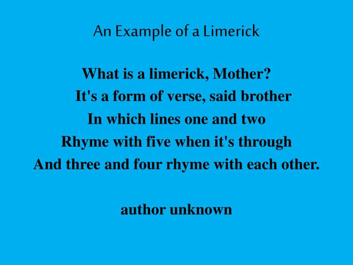 An Example of a Limerick