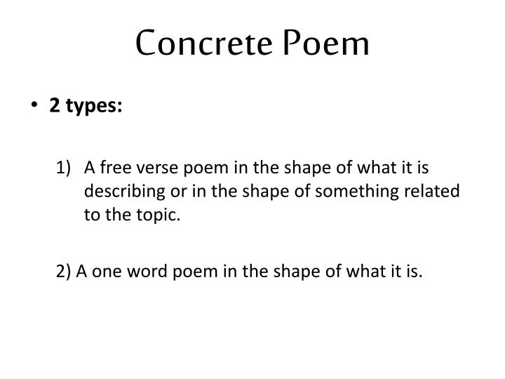 Concrete Poem