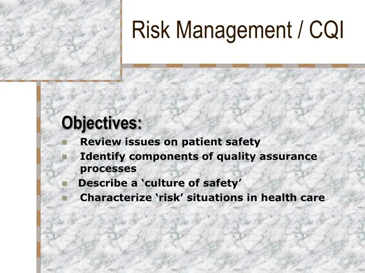 Risk management cqi2
