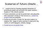 scenarios of future climate