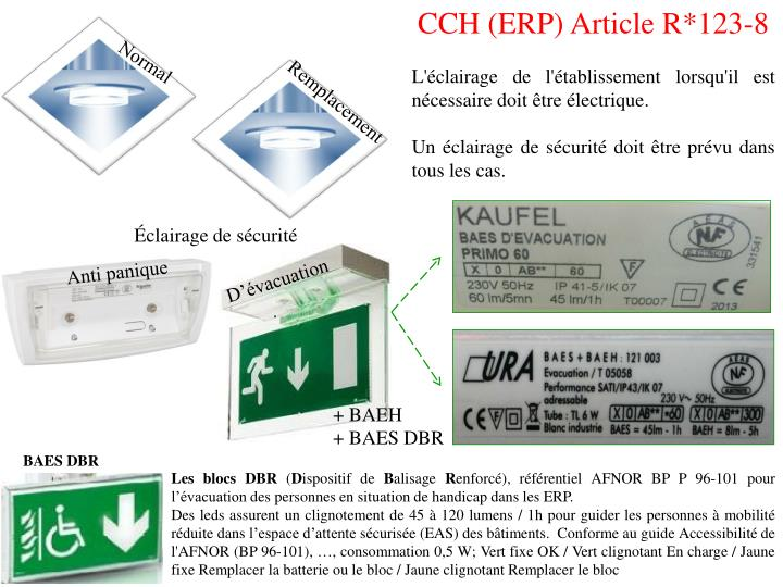 CCH (ERP) Article R*123-8