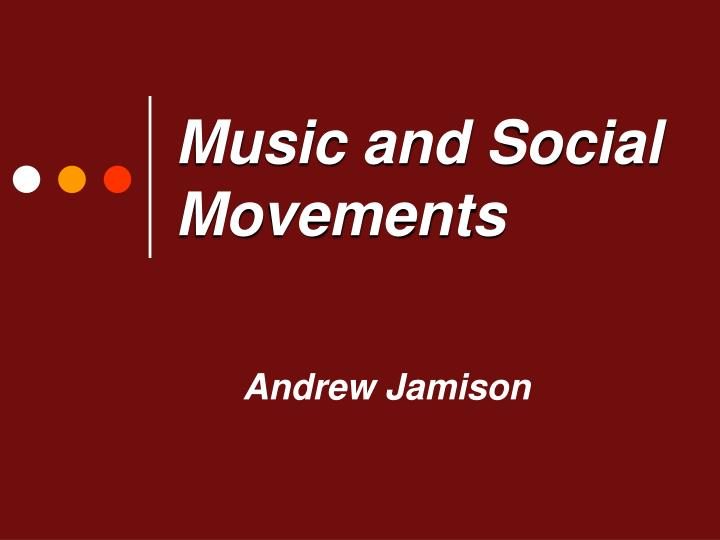 music and social movements n.