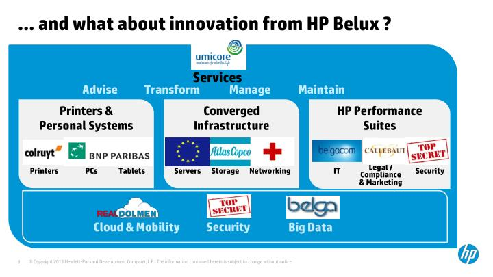 … and what about innovation from HP