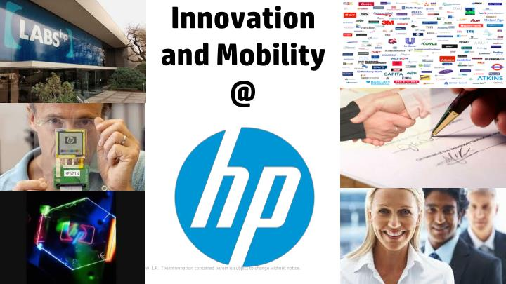 Innovation and mobility @