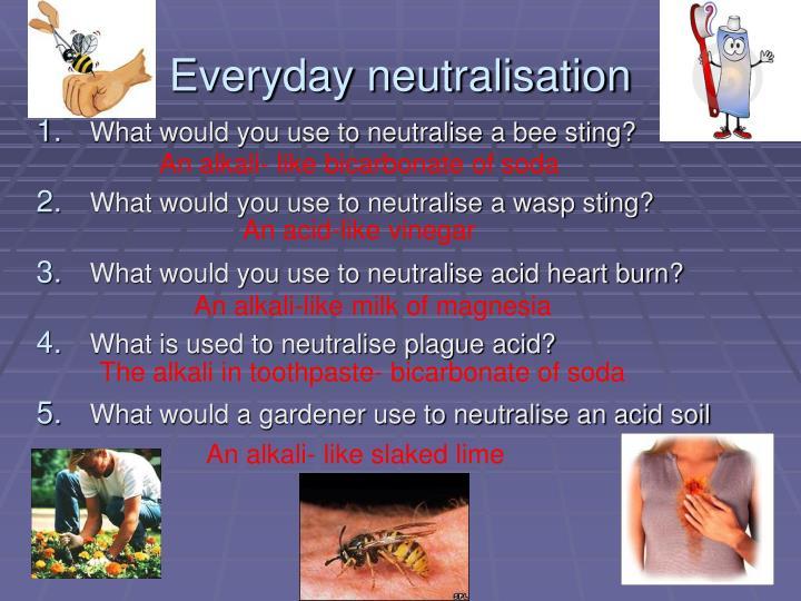 Everyday neutralisation