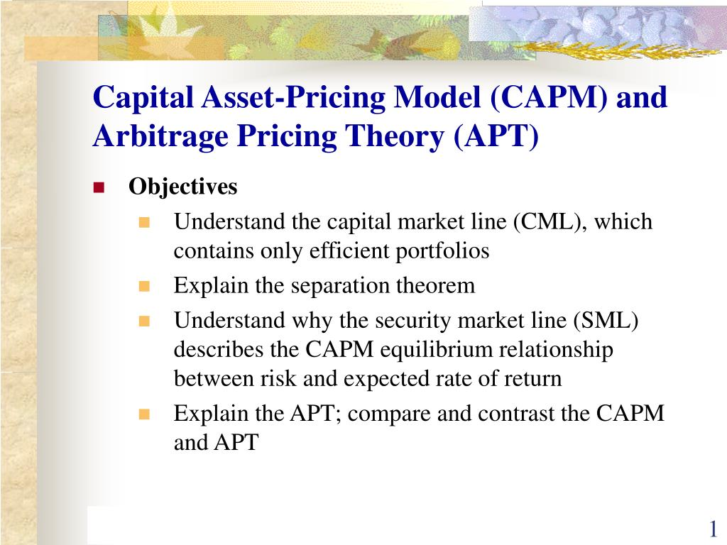 arbitrage pricing theory example