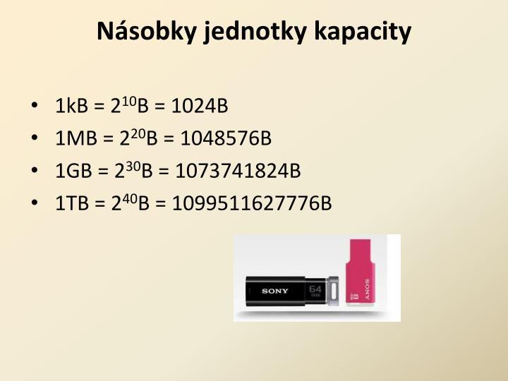 Násobky jednotky kapacity