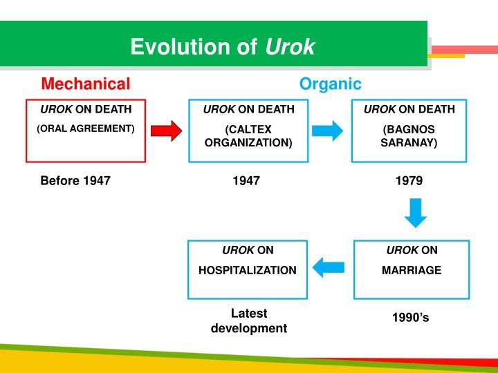 Evolution of