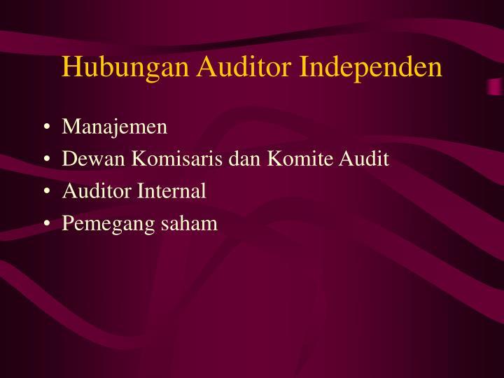 Hubungan Auditor Independen