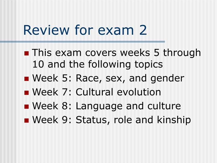 review for exam 2 n.