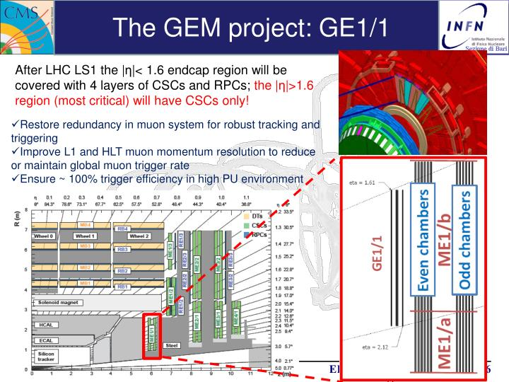 The GEM project: GE1/1