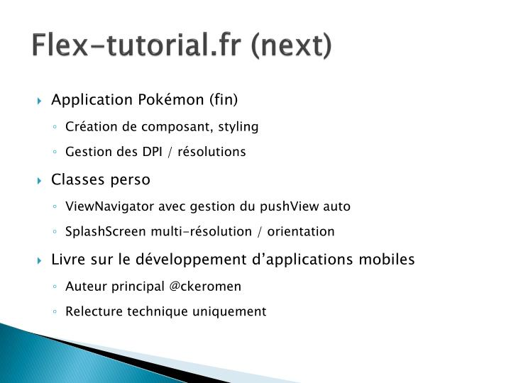 Flex-tutorial.fr (