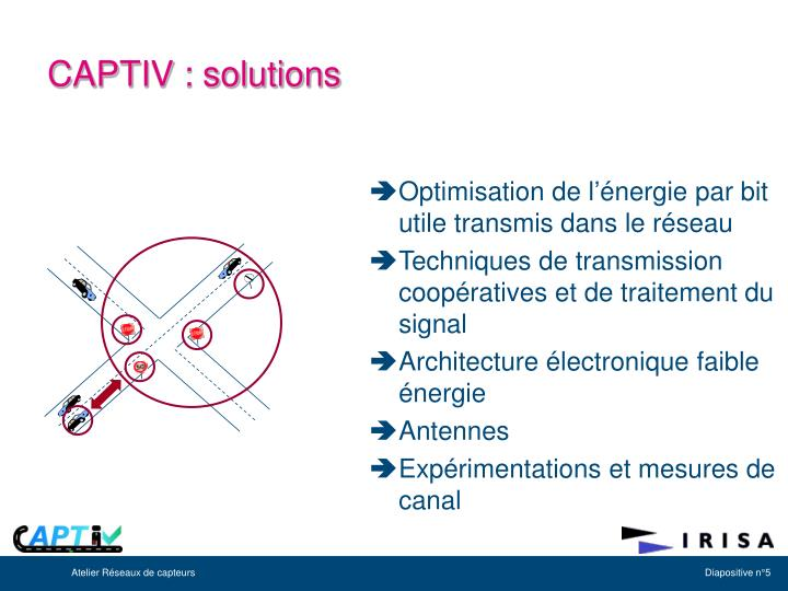 Optimisation de l'énergie par bit utile transmis dans le réseau