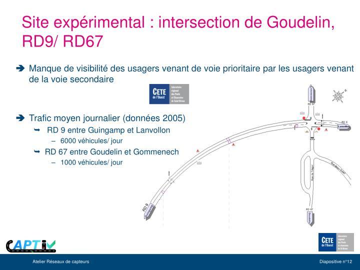Site expérimental : intersection de Goudelin, RD9/ RD67