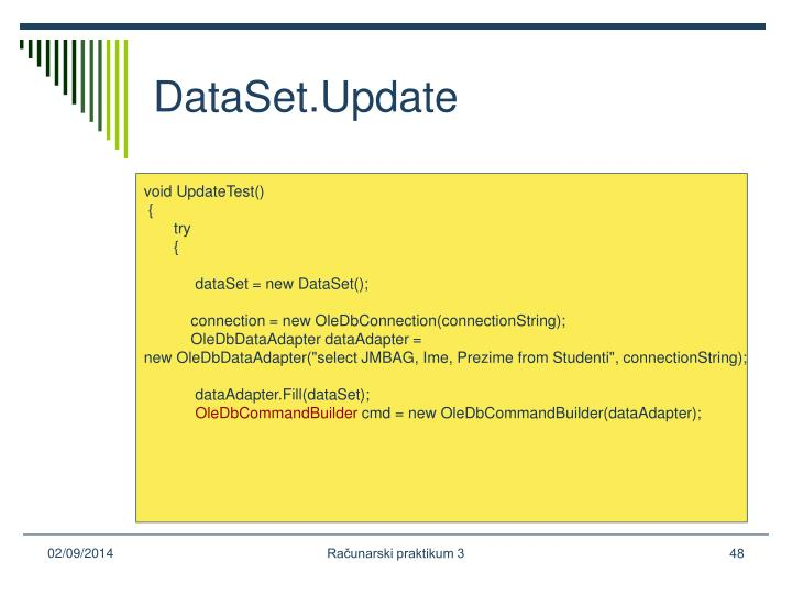 DataSet.Update