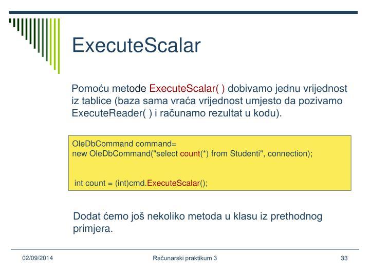 ExecuteScalar