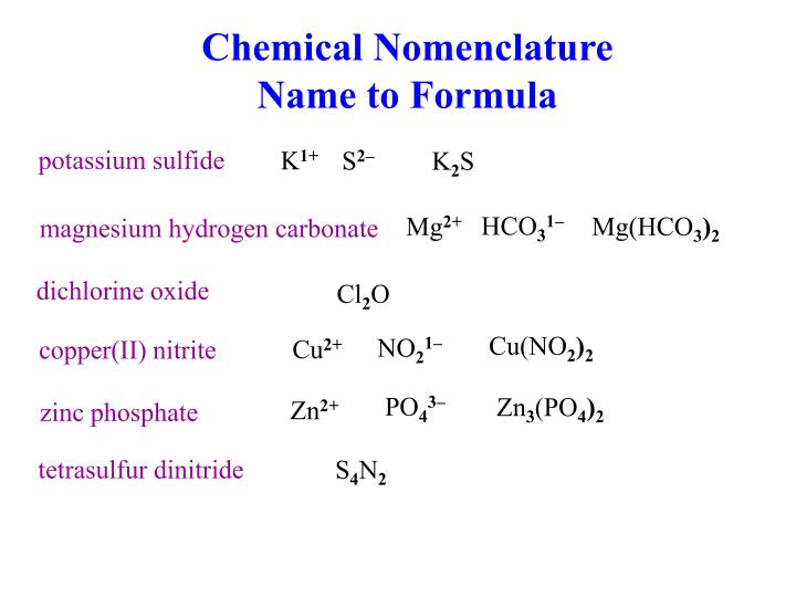 Ppt Chemical Nomenclature Formula To Name Powerpoint Presentation