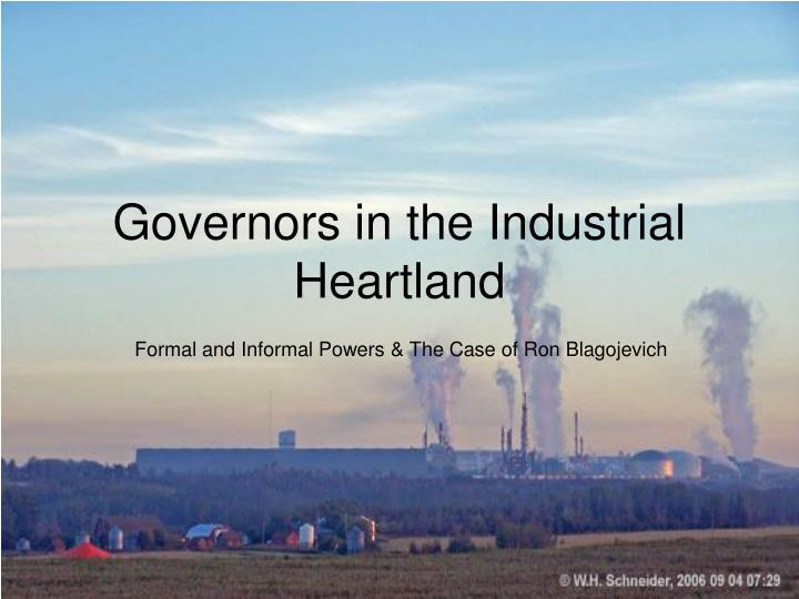 governors in the industrial heartland